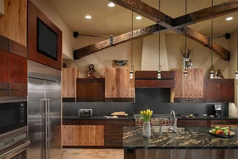 Chỉ một chi tiết độc đáo cũng làm tôn lên vẻ đẹp vừa giản dị vừa hiện đại của một mẫu nội thất phòng bếp