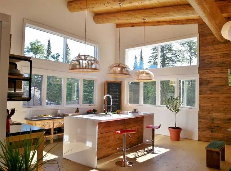 Ánh sáng tự nhiên luôn là điều tốt nhất cho mọi mẫu nội thất phòng bếp đẹp, giản dị và hiện đại
