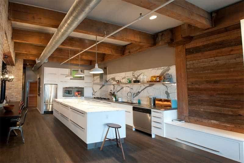 Đôi khi, việc không trang trí mà chỉ sử dụng gỗ trong một mẫu nội thất phòng bếp cũng có thể khiến nó đẹp như vậy